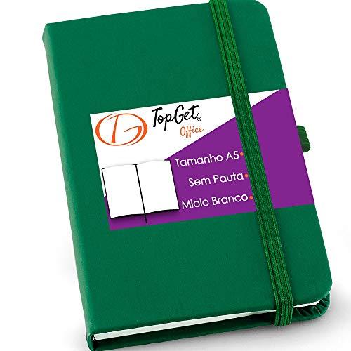 Caderneta de Anotações 14x21cm 80 Folhas Sem Pauta Verde