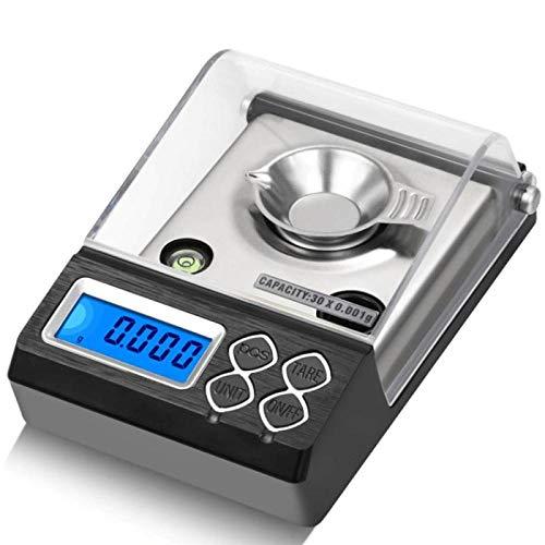 Mini Libra 20g / 30g / 50g / 0,001Mini balanzas digitales de alta precisión, balanza de peso, joyería electrónica de precisión, balanza de peso 30g / 0,001