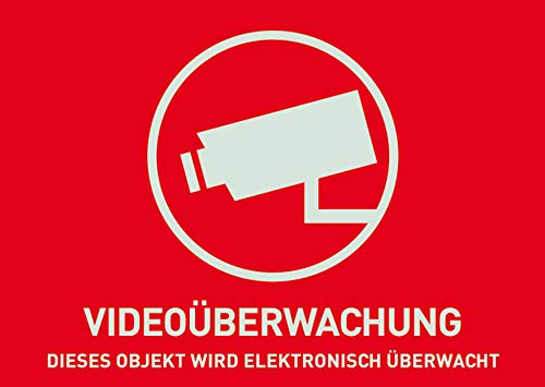 ABUS Warnaufkleber AU1320 Videoüberwachung ohne Logo 148 x 105 mm reflektierend