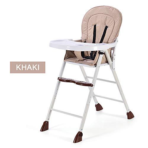 MASODHDFX baby eetkamerstoel opvouwbare multifunctionele draagbare kinderstoel tafel stoel kan worden aangepast 4 kleuren + drie niveaus