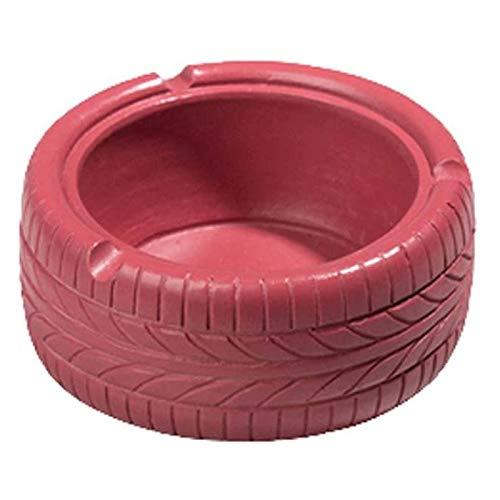 TYUIOO Ceniceros Ash Tray Vintage Cemento Neumáticos Cenicero, Bandeja de Ceniza de Cigarrillos for Uso Interior o Exterior Personalidad Oficina Bar Cafe Decoración del hogar (Color: Negro)