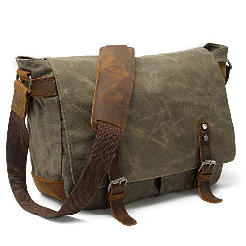 YuuHeeER 1PC Waterproof Messenger Bag Mens Man Bags Cross Body Canvas Shoulder Satchel Green