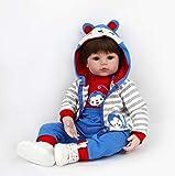 Bambole Reborn Realistica Morbido Silicone Delicatamente Touch 20 Pollici 50cm Bambola Reborn Bambino della Ragazzo del Giocattolo(Accompagnato da capezzolo, biberon)