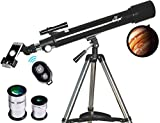 Telescope, Astronomy Refractor Telescopes, 70mm Apeture Scope 700mm AZ Mount for Astronomy Beginners...