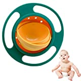 QWEPU Gyro Bowl, Magic Bowl, Spill-Proof Bowl 360 °rotatable, gyroscopic Bowl with lid for Baby Children Anti-Spill,Baby Gyro Bowl 360° Rotation,Suitable for Babies, Toddlers and Infants