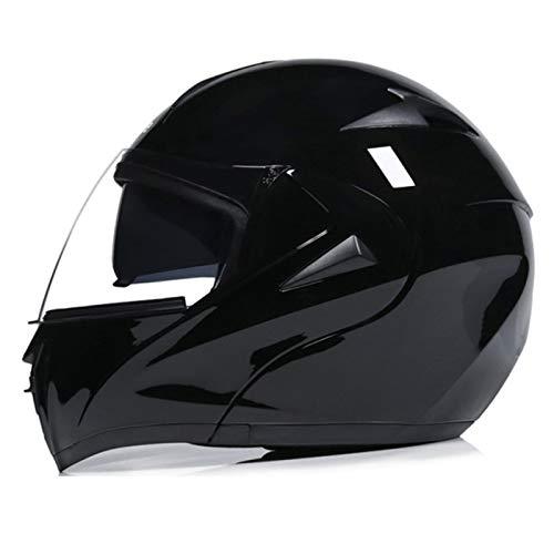 Casco de Moto Modular de Seguridad Visera Doble Abatible Casco de Moto con Guantes y Prueba de Viento Mascara Facial Casco Protector Integral para Hombres y Mujeres Certificado ECE G,S