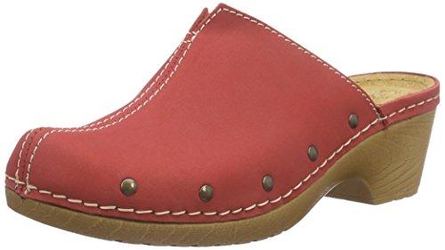 Jana Damen 27302 Clogs, Rot (RED 500), 36