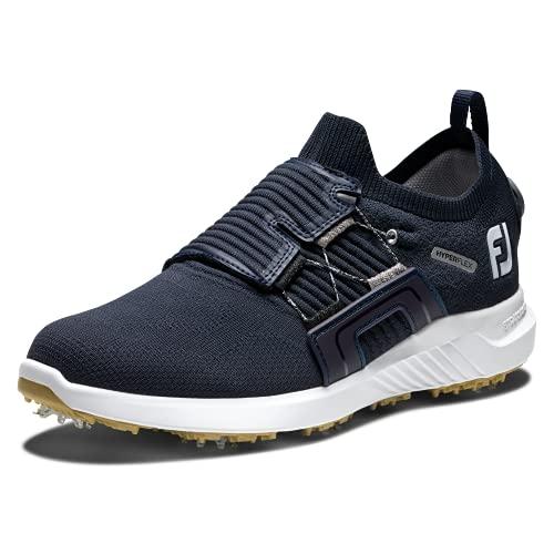 FootJoy Men's Hyperflex Boa Golf Shoe, Midnight Blue, 10 Wide
