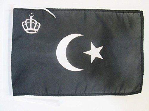 AZ FLAG Flagge KÖNIGLICHE STANDARTE VON LIBYEN 1946-1969 45x30cm mit Kordel - LIBYEN Fahne 30 x 45 cm - flaggen Top Qualität