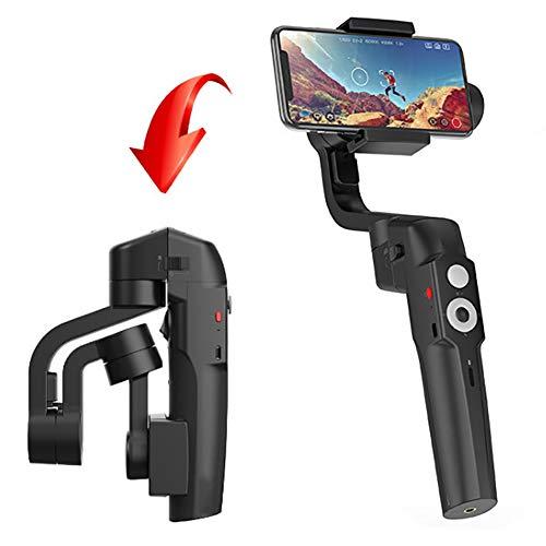 WFLJ Stabilisateur Pliable Pour Smartphone, mit Stativ und Ladekabel und Bluetooth-Fernbedienung, mit Stativ und Ladekabel und Bluetooth-Fernbedienung, für Vlog Youtuber Live Video