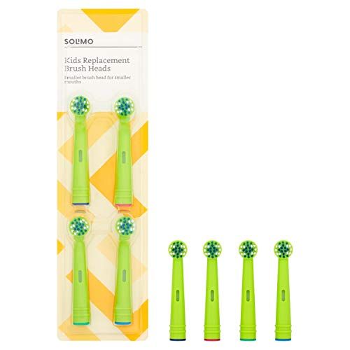 Marca Amazon -Solimo Cabezales de cepillo de dientes Kids, 2 packs de 4 cabezales