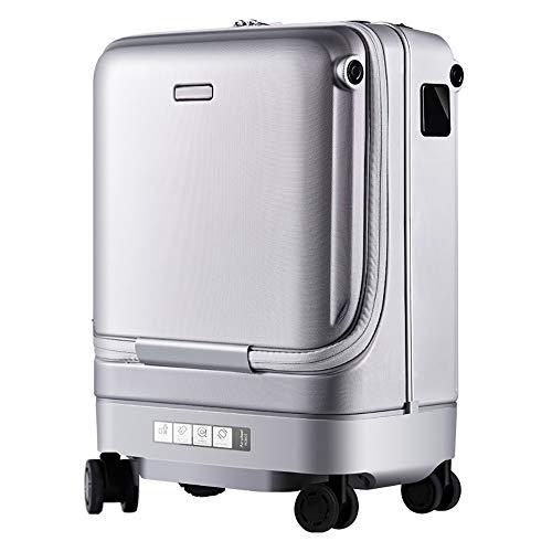 ZOODQ Koffer mit Gepäckauszug Smart-Koffer dabei automatisch Trolley Anti-Verlorene Warnung Reise-Koffer Elektro Gepäck kann Boarded 20 Zoll Leichtes Spinnergepäck