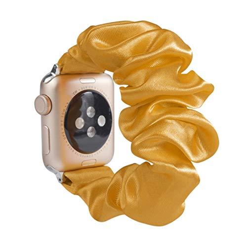 Scrunchie correa elástica para apple watch 5 bandas 44 mm 40 mm pulsera de reloj de mujer para la serie 5 4 3 para iwatch band 38 mm 42 mm 38