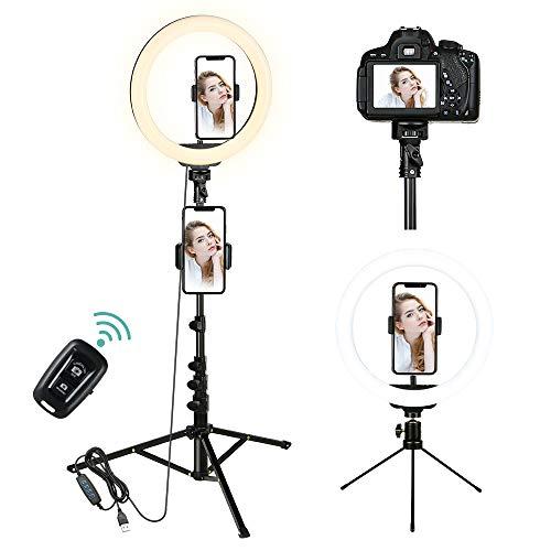 Anillo de luz para selfies.