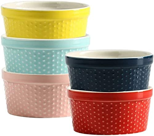 Porcelain Bowls Of Now free shipping 5 Tampa Mall Classic Ceramic Souffle B Dishes Colorful