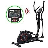 UnfadeMemory Bicicleta Elíptica Magnética con Pulsómetro Programable,Función Bluetooth,Pantalla LCD,Juego...