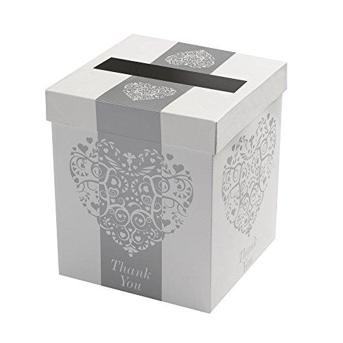 Neviti Vintage Romance Post Box, Carta, Argento, 21x 21x 25cm