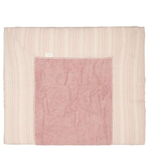 Koeka - Wickelauflagenbezug Maui Bern - Baby Bezug Für Wickelauflage - Abwaschbar - Baumwolle - Altes Rosa - 75X85 Cm