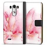 DeinDesign Étui Compatible avec LG G3 Étui Folio Étui magnétique Aquarelle Pierre précieuse...