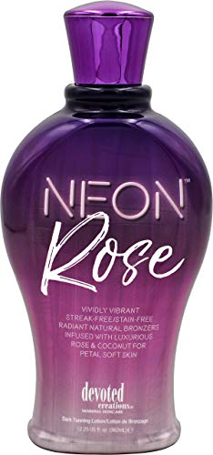 Devoted Creations Neon Rose Tanning Lotion with Natural Bronzers 12.25 oz