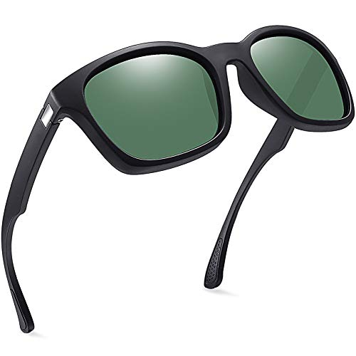 Joopin Gafas de Sol Hombre y Mujer Polarizadas Clásicas Retro Vintage con Protección UV Gafas Cuadradas para Conducir y Deportes al Aire Libre Oliva