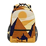 DXG1 Pyramiden Rucksack Ägypten Damen Herren Teenager Mädchen Jungen Schultasche Geldbörse Büchertasche Casual Daypack Supplies