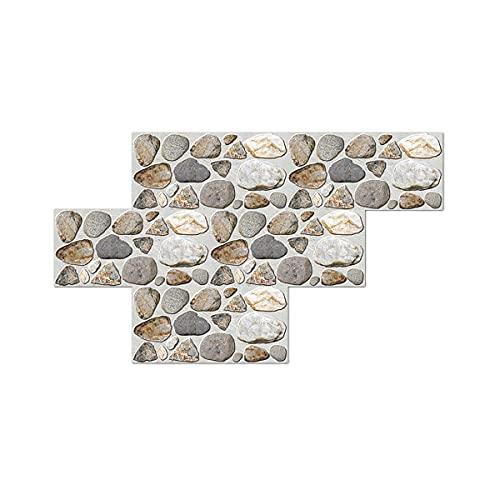 Textura de piedra de imitación textura de adoquines pegatinas de azulejos para el hogar creativo autoadhesivo de pared retro 30X15cm 12 piezas