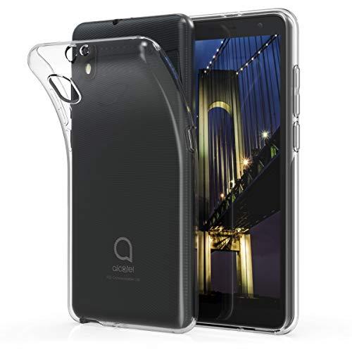 kwmobile Hülle kompatibel mit Alcatel 1B (2020) - Silikon Handyhülle transparent - Handy Hülle in Transparent