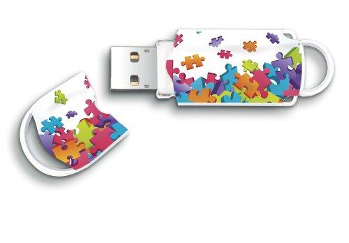 Integral Memory Xpression Puzzle - Memoria USB de 16 GB, Multicolor