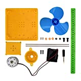 SH-RuiDu DIY Solar Powered Generador Fan Material Set Fácil de Asamblea Juguete Educativo para Enseñar Experimento