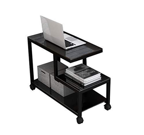 ZXL Mobilen Kleinen Couchtisch, Sofa Schrank Seite Glasecke EIN Paar Wohnzimmer Kreative Ecktisch Nachttisch 65-90 cm Möbel (Farbe: F-90 * 40 * 55 cm)