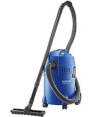 Nilfisk 18451124 EU nat-/droogzuiger, voor reiniging binnen en buiten, 18 liter inhoud, 1200 W ingangsvermogen Buddy II 18, 230 V, blauw