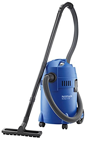 Nilfisk 18451124 EU Nass-/Trockensauger, für die Reinigung im Innen-& Außenbereich, 18 Liter Fassungsvermögen, 1200 W Eingangsleistung Buddy II 18, 230 V, blau
