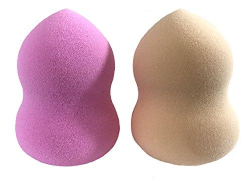 Essencell Cosmetics Pro bellezza di trucco Blender Spugne 2pc Pack - facilmente si fondono Fondazione liquido, evidenziare e contorno-Flawless spugna applicatore