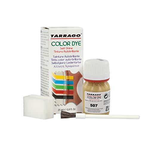 Tarrago | Self Shine Color Dye 25 ml | Tintura Autobrillante para Zapatos y Accesorios | Cubre Rozaduras y Desgastes del Calzado | Oro Brillante (507)