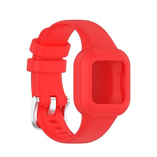 Wownadu Correas Compatible para Garmin vivofit jr.3 Correa Mujer Hombre Intercambiable Pulsera, Rojo Repuesto Accesorios Band (Sin Monitor)