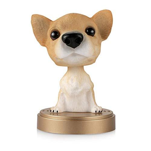 niawmwdt Auto Ornament Schütteln Kopf Hund Puppe Solid Parfüm Dekoration Niedliche Automobil Interieur Dashboard Bobble Kopf Hund Spielzeug Zubehör, 001