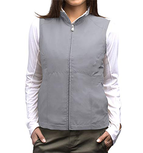 SCOTTeVEST Women's RFID Travel Vests with 18 Pockets - Utility Vest (GRY, M)