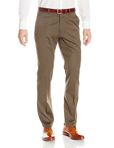 Perry Ellis Men's Solid Slim Fit Pant, Rain Drum, 31x30