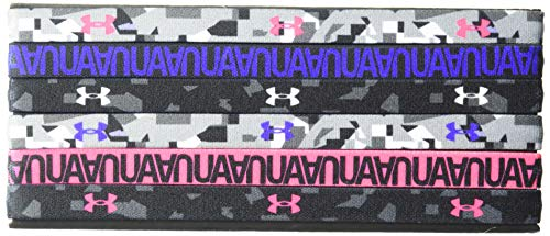 Under Armour Girls' Graphic Headbands 6-Pack , Black (011)/Penta Pink , One Size Fits All