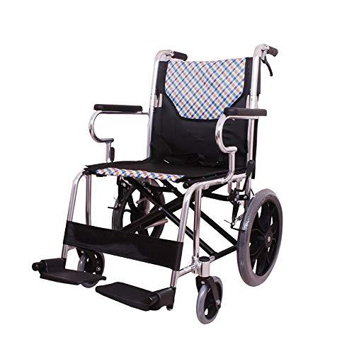 MYYLY Opvouwbare lichte rolstoel van aluminiumlegering, kleine draagbare ouderen, met handicatie/vrije luchtbanden en handremmen rolstoelen