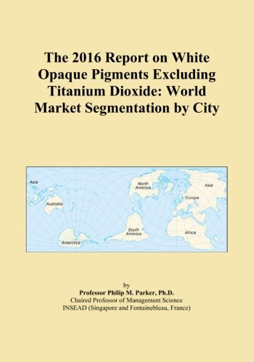 気体の放棄する書き出すThe 2016 Report on White Opaque Pigments Excluding Titanium Dioxide: World Market Segmentation by City