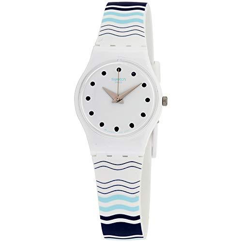 Swatch Originals Vents Et Marees LW157 - Reloj unisex con esfera blanca y correa de silicona