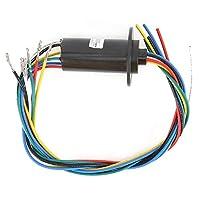 MW1615導電性スリップリング50RPM定格速度6リング29.8mm直径高出力機器部品電気収集リング0〜600VAC/DC 0.1N/m + 0.03Nm/6ch