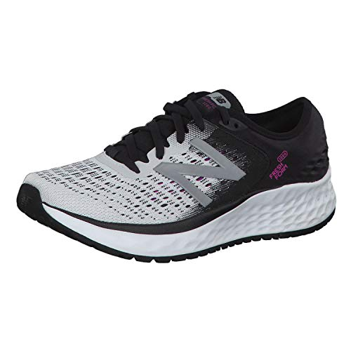 New Balance Damen Fresh Foam 1080v9 Laufschuhe, Weiß (White/Black/Voltage Violet), 41 EU