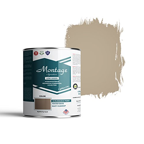 Montage Signature Interior/Exterior Eco-Friendly Paint, Riverstone - Low Sheen, 1 Gallon