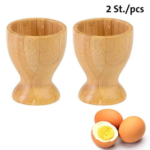 Westmark 2 Eierbecher, mit Fuß, ø 4,7 cm, Bambus, Tapas + Friends, Hellbraun, 70082270