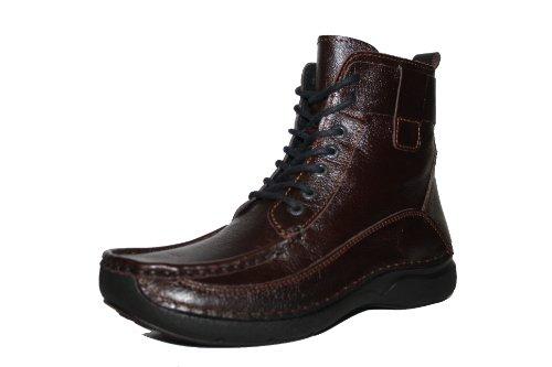 Wolky 7216 Rolling-Boot 2 Damen Knöchelschuhe Boots Schnürschuhe Schuhe Wechselfußbett Braun EU 38