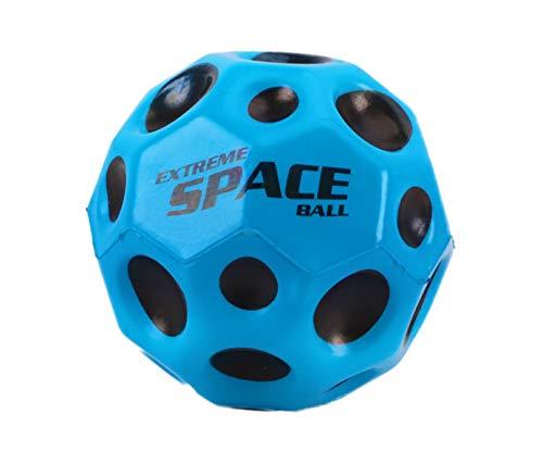 Toyland 6,5 cm extremer Weltraumball mit extrem hohem Sprungkraft - Blau - Taschengeldspielzeug