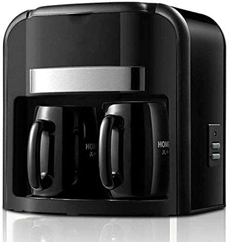 Automatic Coffee Machine, Espresso Machine Household Drip Double Cup Coffee Maker Keep Warm Auto-Off Function Anti Drip System